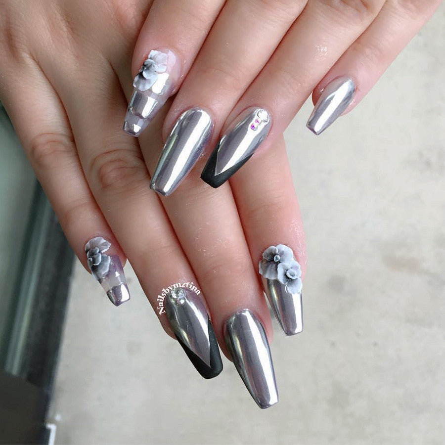 Daily Charme Mirror Chrome Magic Powder Nail Art