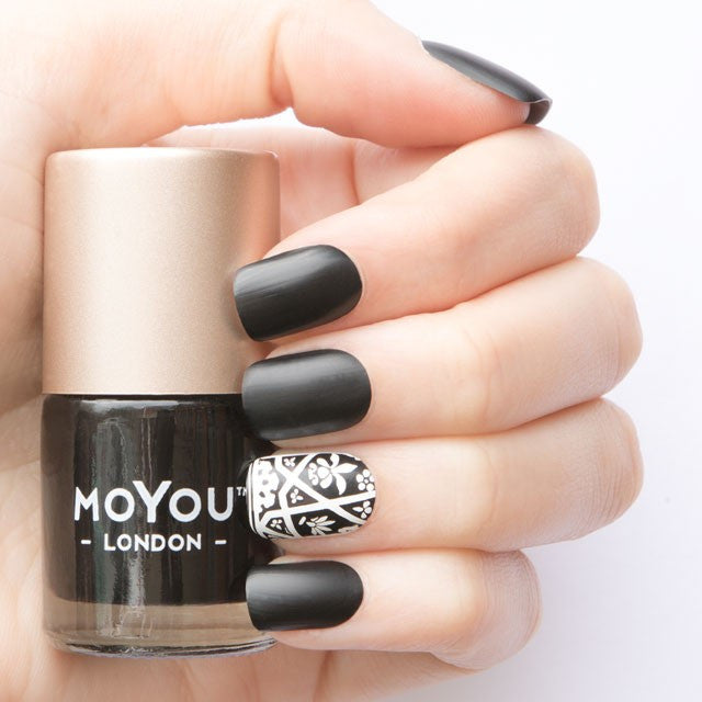 Moyou London / Stamping Nail Lacquer / Black Knight