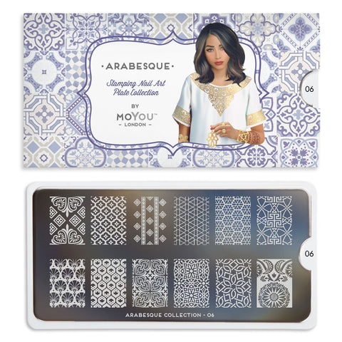 Daily Charme Nail Art Stamping Moyou London Arabesque 06