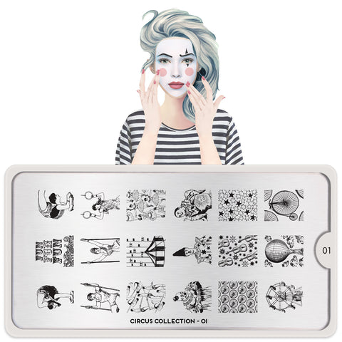 Daily Charme Nail Supply Art Stamping Moyou London Circus 01