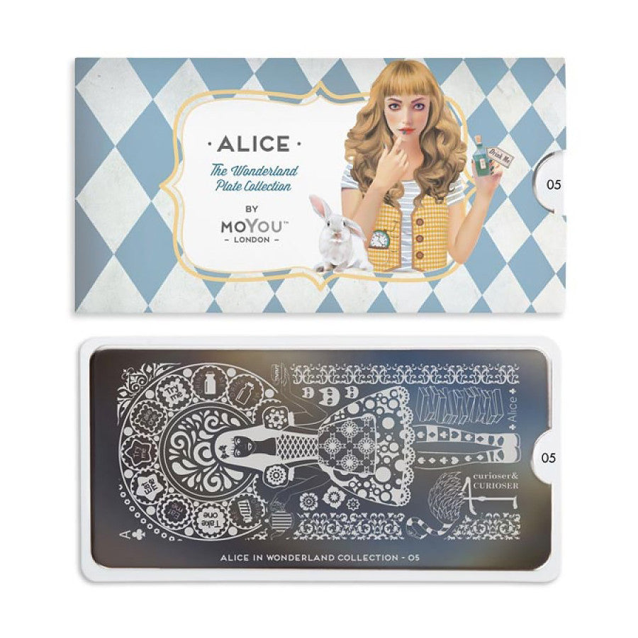 Stamping Plate Alice in Wonderland 05 Alice