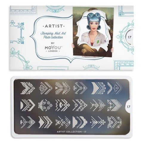 Moyou London Artist 17 - Ornate Border Decor Palettes Small