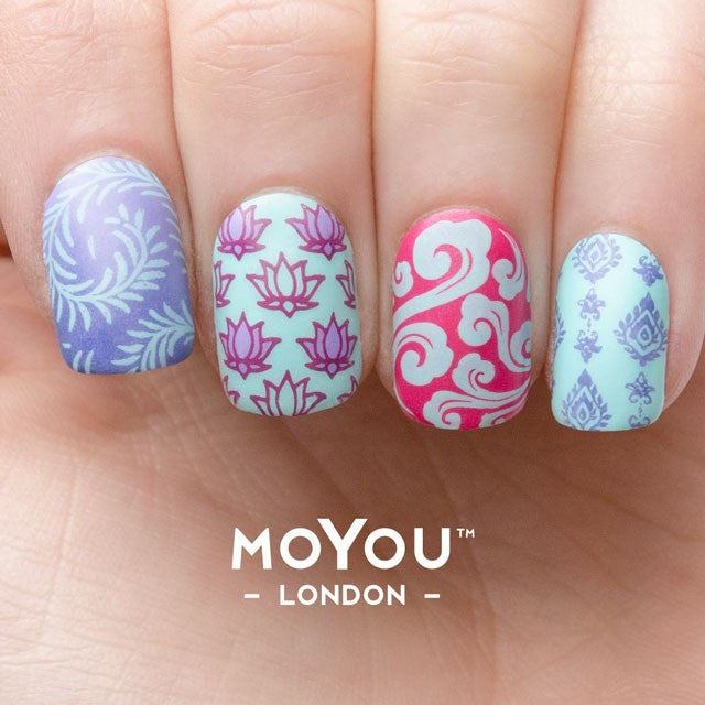 Moyou London Nail Stamping Art Asia Collection Sample