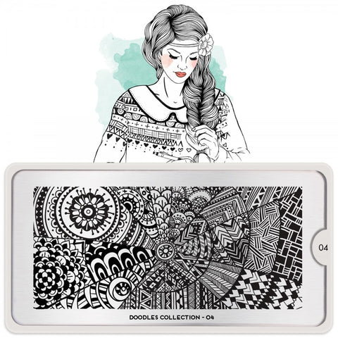 Moyou Stamping Plate Doodle 04 - Patterns
