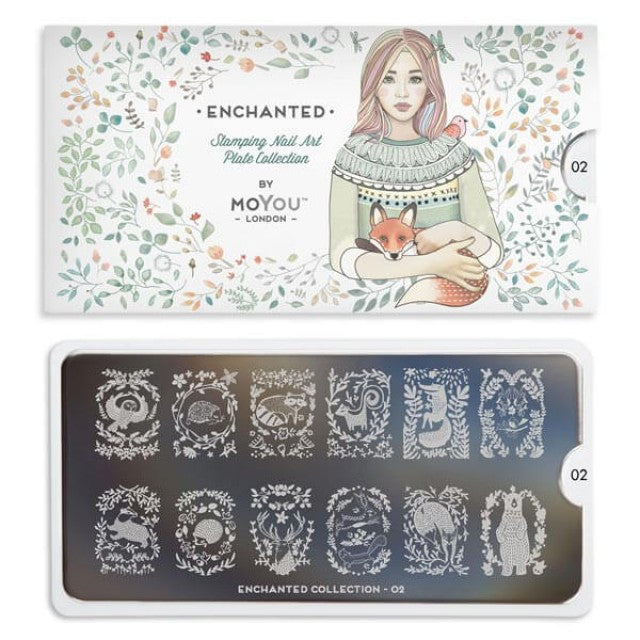Moyou Nail Art Stamping Plate - Enchanted 02