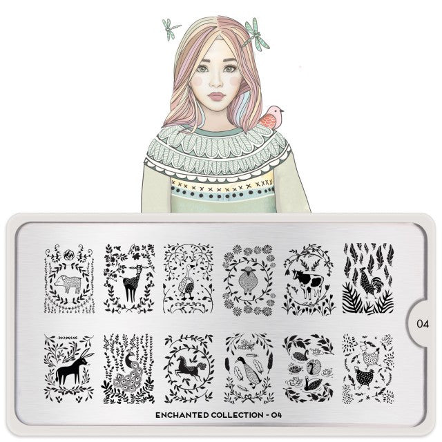 Moyou Nail Art Stamping Plate - Enchanted 04