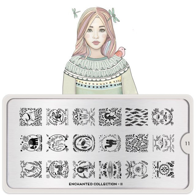 Moyou Nail Art Stamping Plate - Enchanted 11