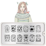 Moyou Nail Art Stamping Plate - Enchanted 14 - Fur Friends Large Palette