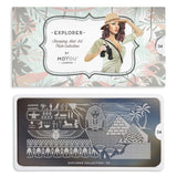 Nail Art Stamping Plate Image MoYou Explorer Collection 4 Pyramids