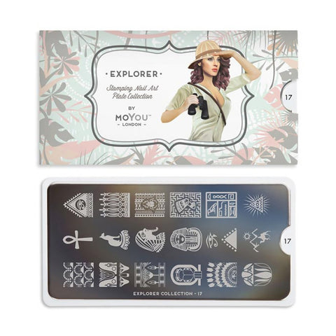 explorer 17 egyptian palettes small moyou stapming plate