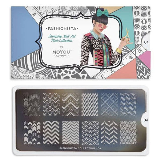 Moyou London Fashionista 04 - Zig Zag Palettes Large