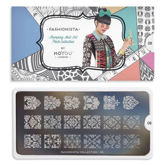 Moyou London Fashionista 08 - Baroque Palettes Small
