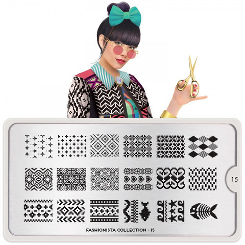 fashionista 15 knit palettes small moyou stapming plate
