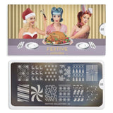 Nail Art Stamping Plate Image MoYou Festive Collection 3 Christmas Palettes Large