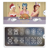 Nail Art Stamping Plate Image MoYou Festive Collection 24 Ornate Easter Palettes Large