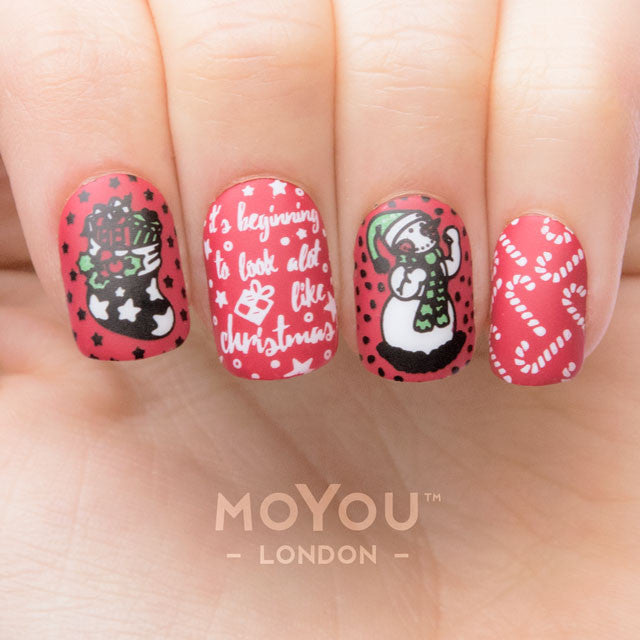 Daily Charme Nail Art Stamping Moyou London Festive 45