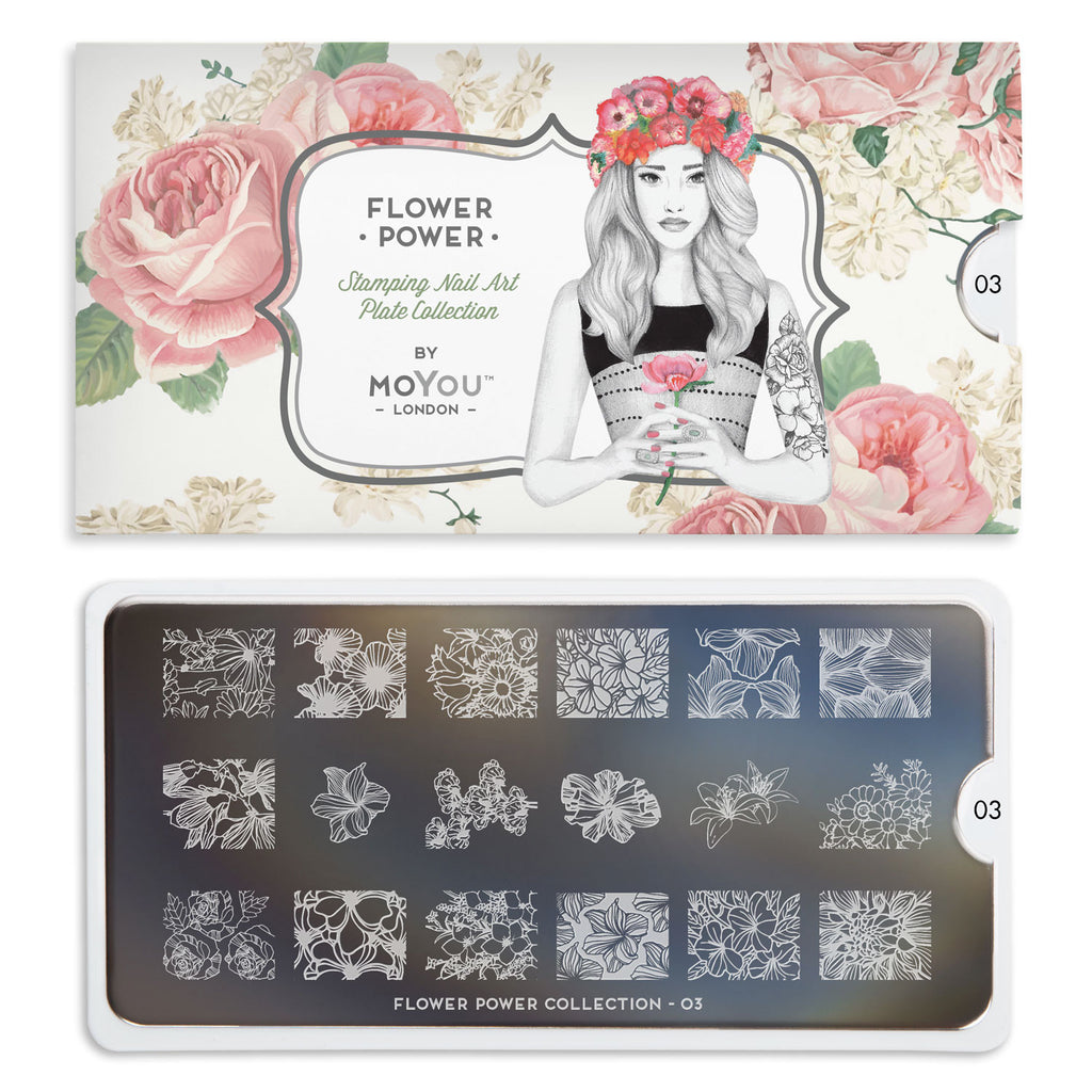 Moyou London Flower Power 03 - Chic Floral Prints Palettes Small