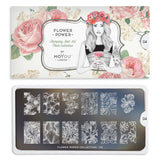Moyou London Stamping Plate Flower Power 04 - Chic Floral Prints Palettes Large
