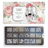Flower Power 05 - Oriental Floral Prints Palettes Small Moyou London Stamping Plate