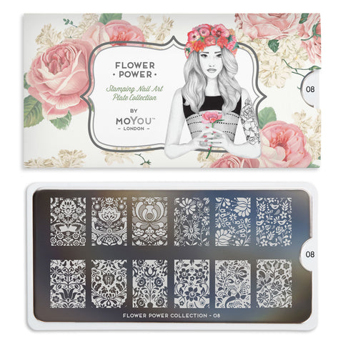 Moyou London Flower Power 08 - Classic Floral Prints Palettes Large