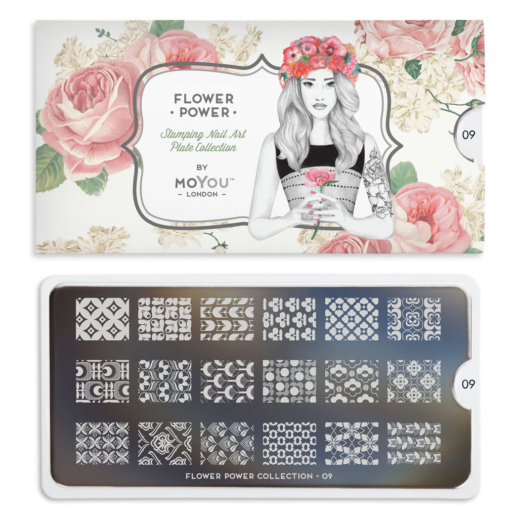 Moyou London Flower Power 09 - Textile Floral Prints Palettes Small