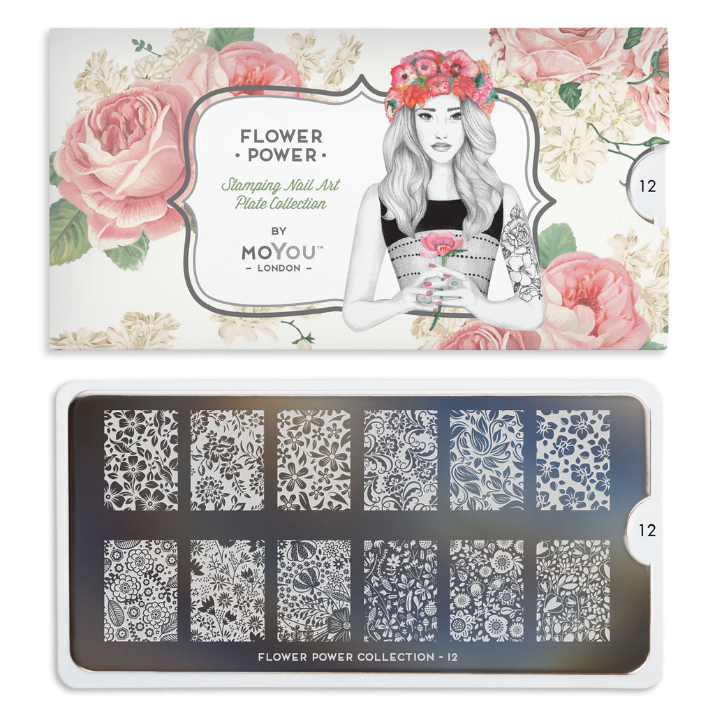 Moyou London Flower Power 12 - Wildflowers Palettes Large