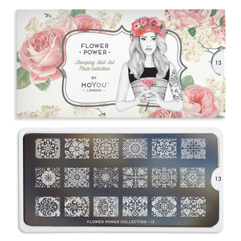 Moyou London Flower Power 13 - Ornate Floral Prints Palettes Small