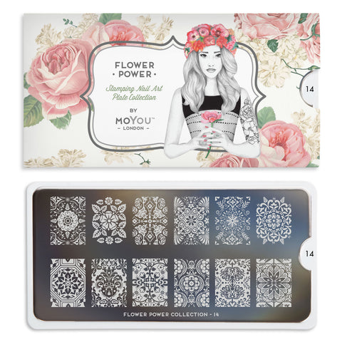 Moyou London Flower Power 14 - Ornate Floral Prints Palettes Large