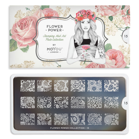 Moyou London Flower Power 15 - Paisley Prints Palettes Small