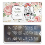 Daily Charme Moyou London Nail Art Stamping Plate Flower Power 17 Floral Prints