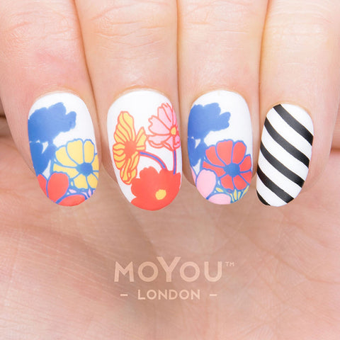 Daily Charme Moyou London Nail Art Stamping Plate Flower Power 19 Floral Prints