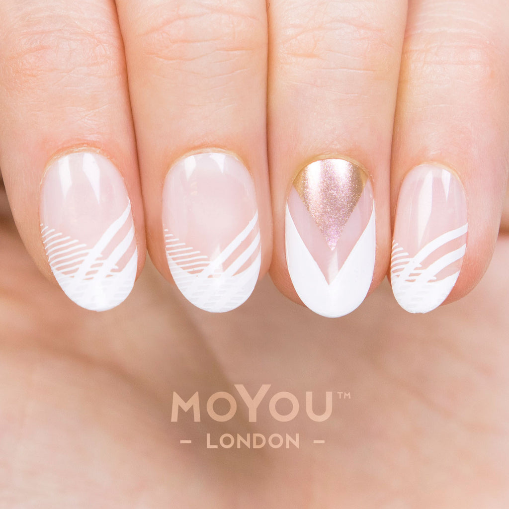 Daily Charme Moyou London Nail Art Stamping Plate / Frenchy 13
