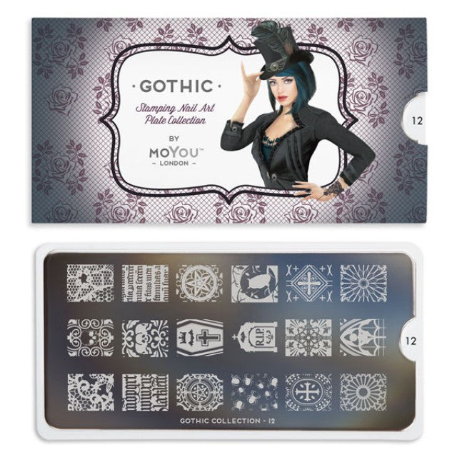 Moyou Nail Stamping Plate Gothic 12