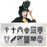 Nail Art Stamping Plate Image MoYou Gothic Collection 7 Magic of Raven