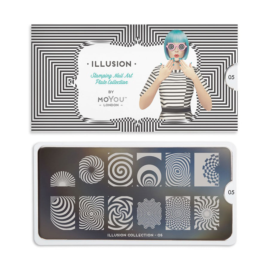 illusion 05 illusional palettes large moyou stapming plate
