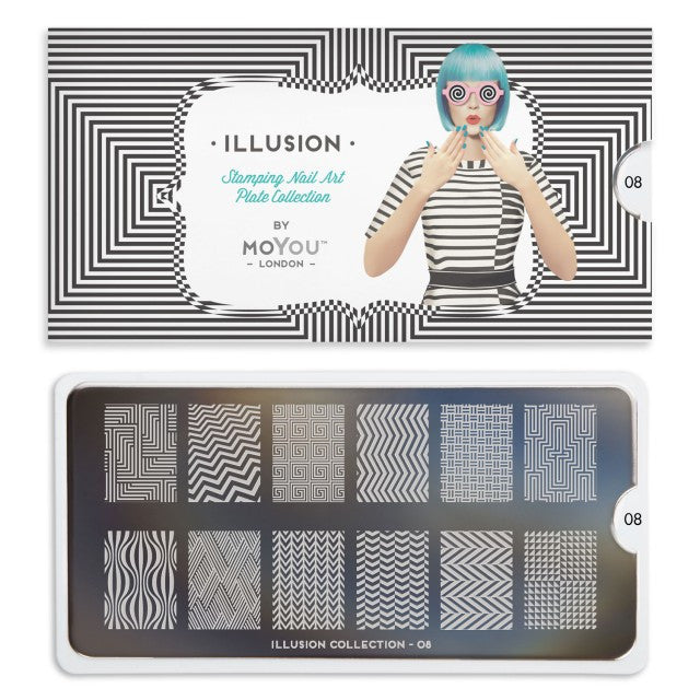 Moyou London Illusion 08 - Zig Zag Palettes Small