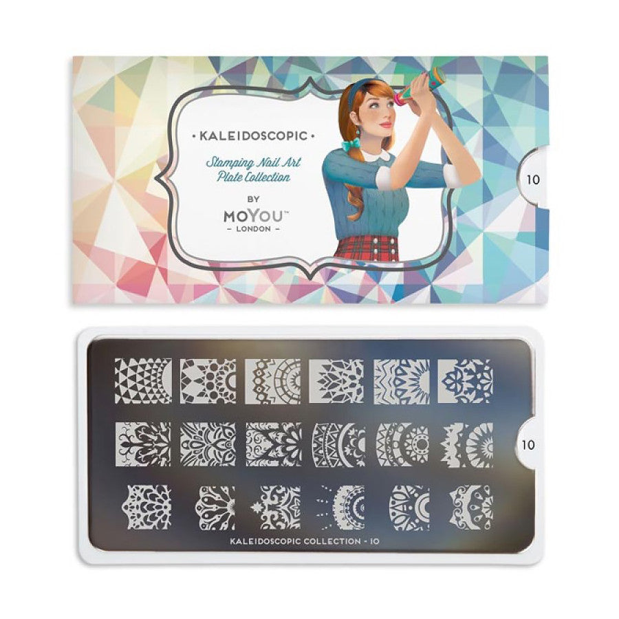 kaledoscope 10 bejeweled palettes small moyou stapming plate