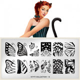kitty 13 butterfly palettes large moyou stapming plate