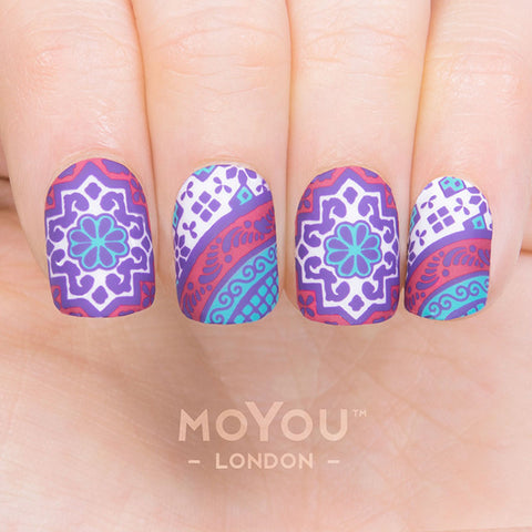 Daily Charme Moyou London Nail Art Stamping Plate / Mexico 06