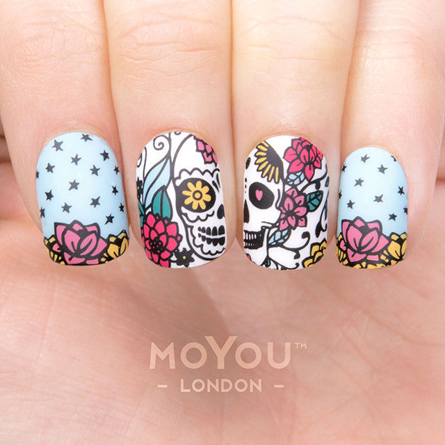 Daily Charme Moyou London Nail Art Stamping Plate / Mexico 02