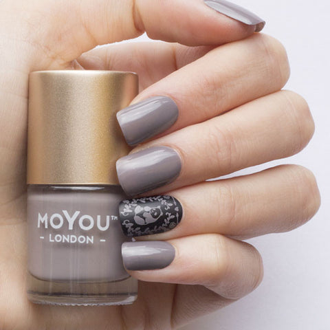 Daily Charme Moyou London / Stamping Nail Lacquer /  Falcon - Taupe Warm Grey Stamping Polish