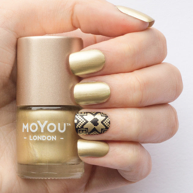 Moyou London / Stamping Nail Lacquer / Liquid Gold