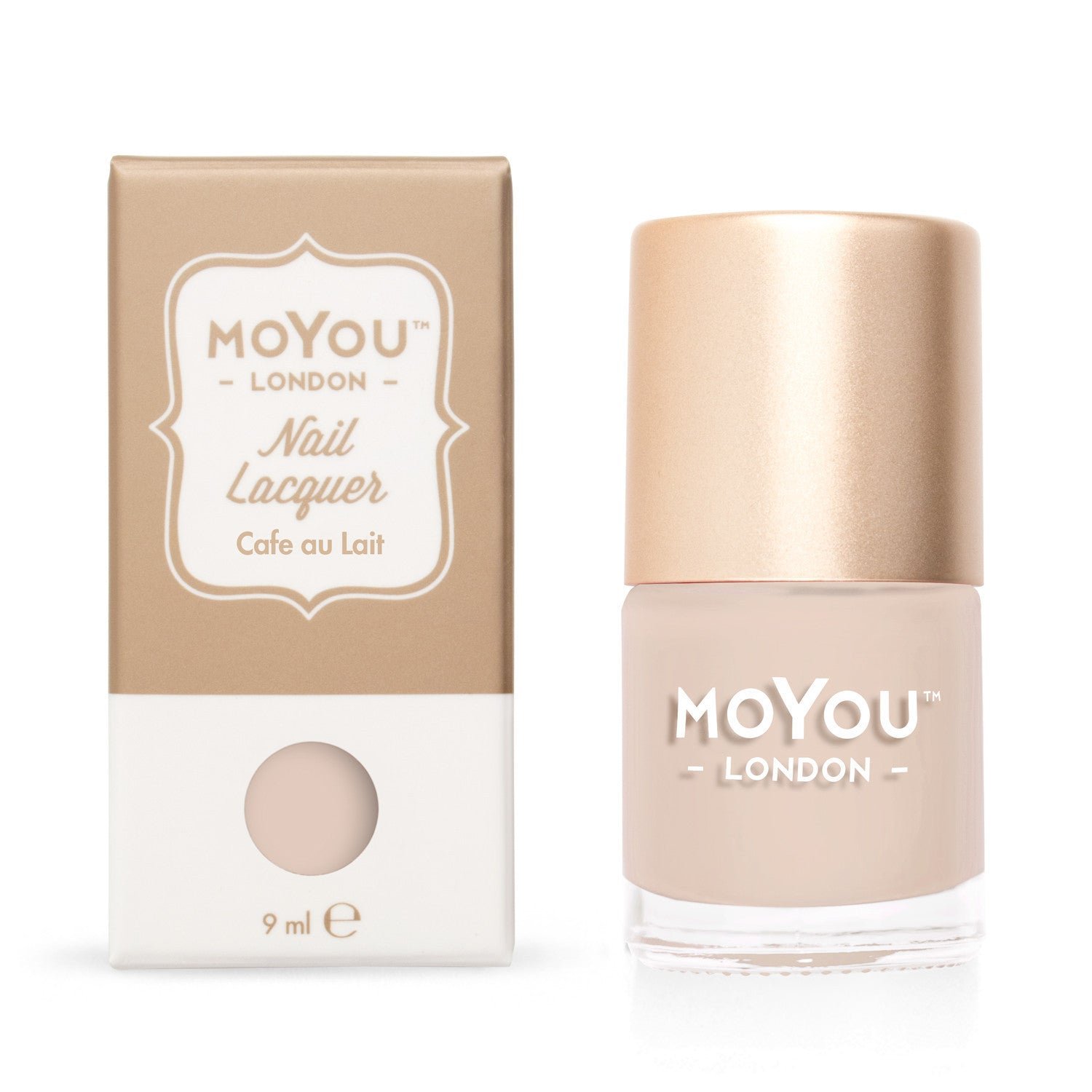 Daily Charme Moyou London / Stamping Nail Lacquer / Café Au Lait - Beige Nude Stamping Polish