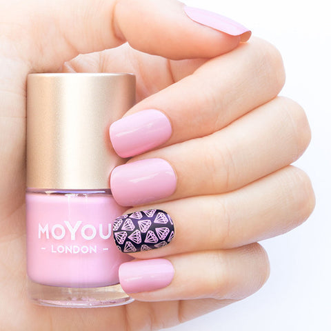 Daily Charme Moyou London / Stamping Nail Lacquer / Candy Floss Pink Stamping Polish
