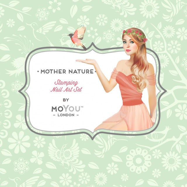 Nail Art Stamping Plate Image MoYou Mother Nature Collection 2 Birds