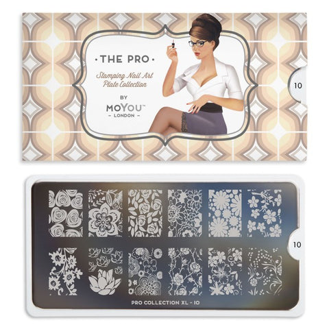 Moyou London Pro XL 10 - Sping Flowers Palettes Large