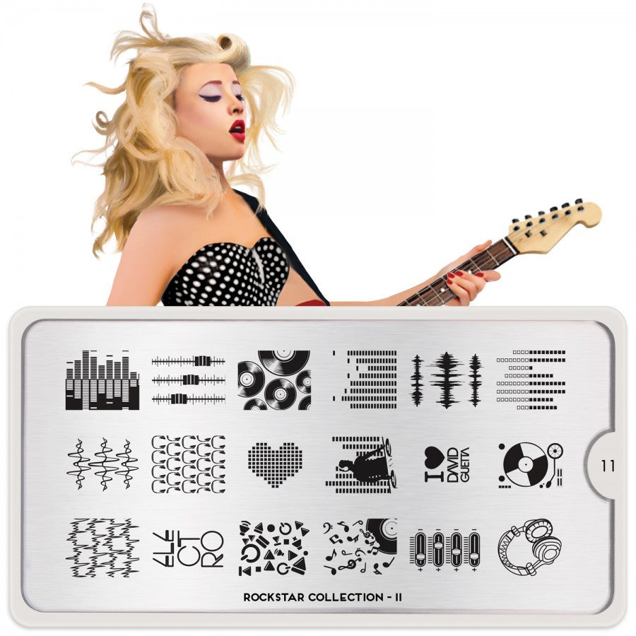 rockstar 11 music palettes small moyou stapming plate