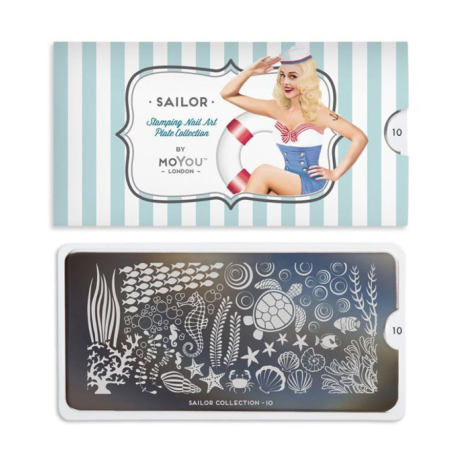 sailor 10 sea world moyou stapming plate