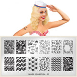 Nail Art Stamping Plate Image MoYou Sailor Collection 7 Ocean Palettes Large