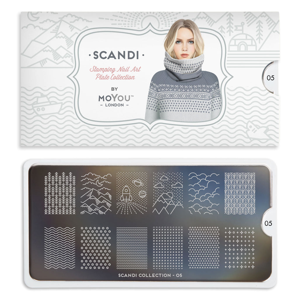 Daily Charme Moyou London Nail Art Stamping Plate / Scandi 05